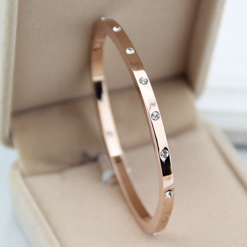 Cheap bangle gold, Buy Quality bangle bracelet jewelry directly from China bangle bracelet Suppliers:  Designer Inspire Rose Gold Plated Diamond Titanium Steel Screw Bangle Bracelet with Screwdriver For Lover Men Wom