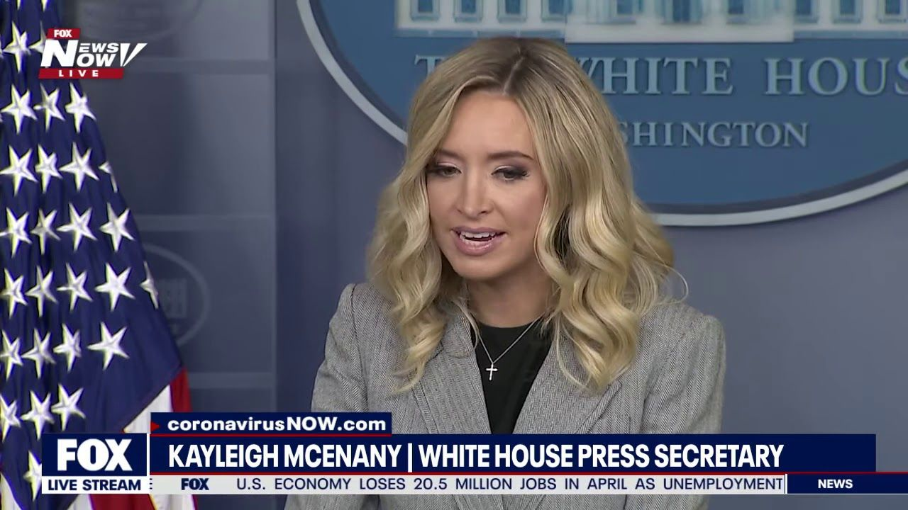 Cnn And Msnbc Did Not Show This White House Briefing Kayleigh Mcenany In 2020 Kayleigh Mcenany White House Briefing Trump Supporters