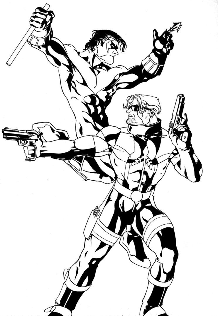 Nightwing and Arsenal inks by sean-izaakse on @DeviantArt | Dick ...