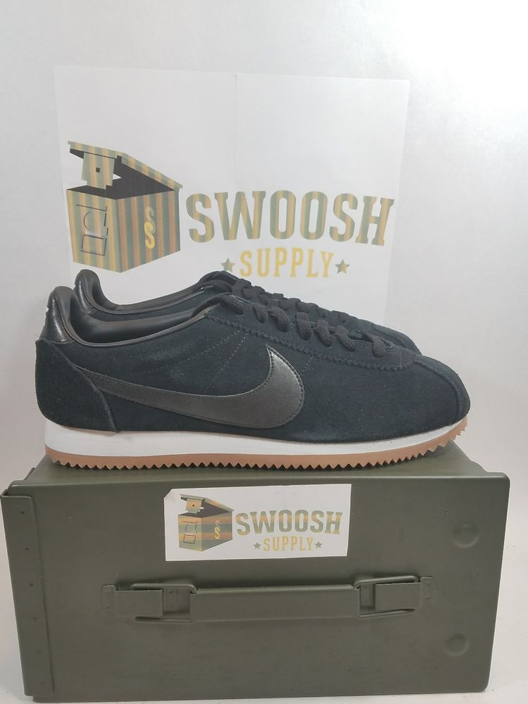 innovative design cb191 95530 Nike Classic Cortez Suede Black White Gum AA3839-001 Women s 11 Shoes Mens  9.5  Nike  LowTop
