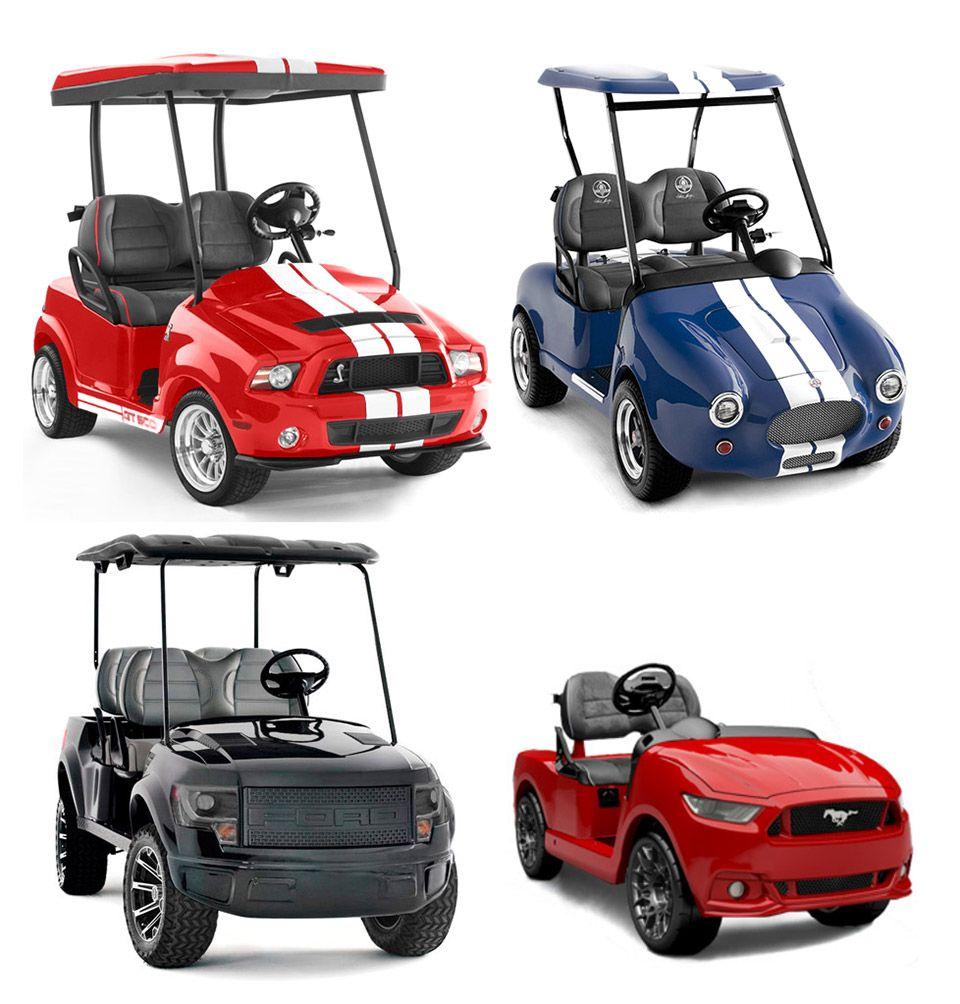 Caddyshack golf carts mini mustangs cobras raptors