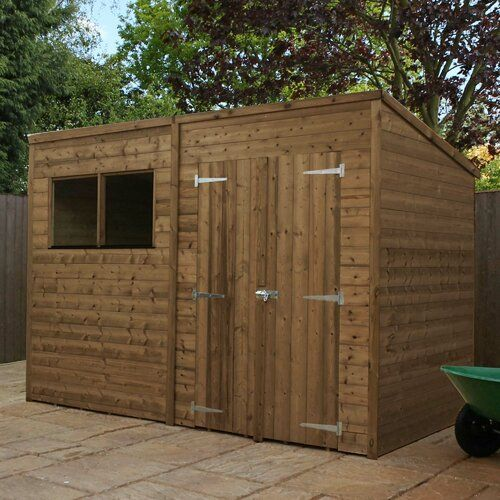10 Ft W X 7 Ft D Shiplap Pent Wooden Shed Home Essence Installation Included No Wooden Sheds Shiplap Cladding Shed Homes