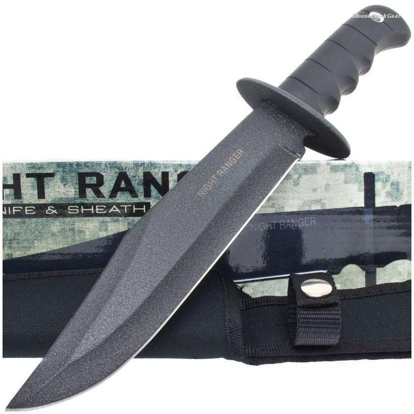 BK927 Night Ranger Tactical Bowie Knife & Sheath | MooseCreekGear.com | Outdoor Gear — Worldwide Delivery! | Pocket Knives - Fixed Blade Knives - Folding Knives - Survival Gear - Tactical Gear