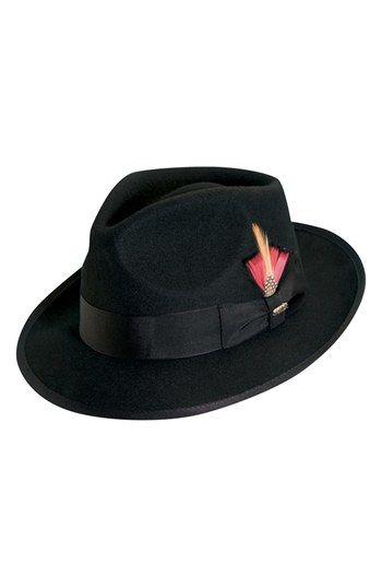 a5d2a8e3cbd6c Men s Scala  Classico  Wool Felt Snap Brim Hat - Black