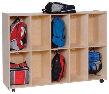 Charmant Steffywood Home Kids Mobile Cubby Hook Lockers Bookbag Storage Cabinet  Shelf Contemporary Display And Wall Shelves