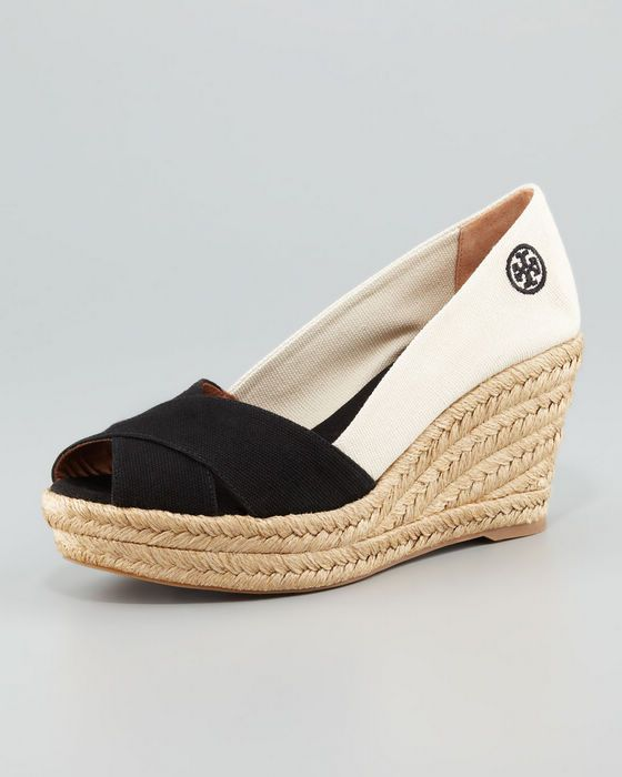 bb6a2a268 New Tory Burch Filipa Colorblock Espadrille Black/Natural | Shoes ...