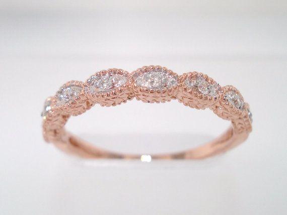 14K Rose Gold stacking ring. Love.