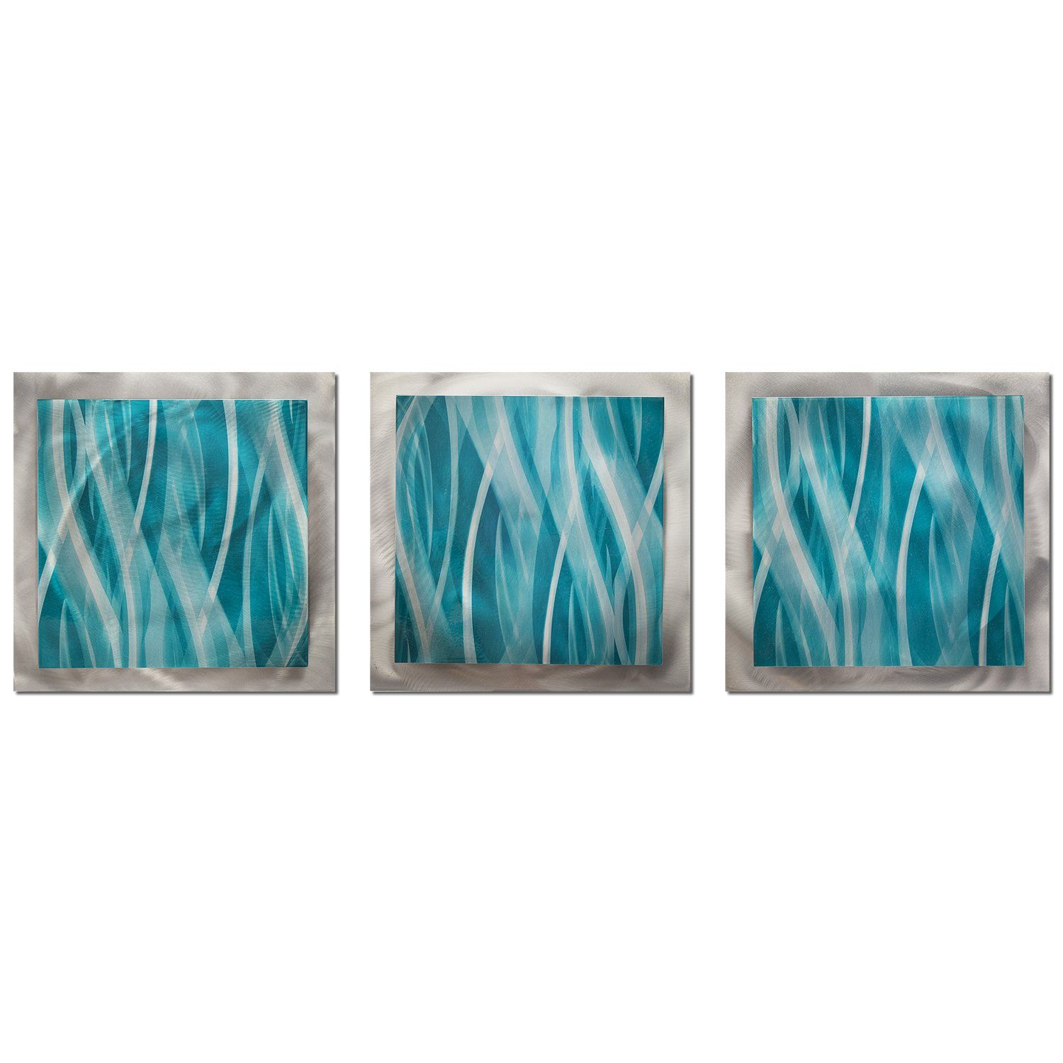 Turquoise Teal Blue Wall Art uTurquoise Essenceu x in