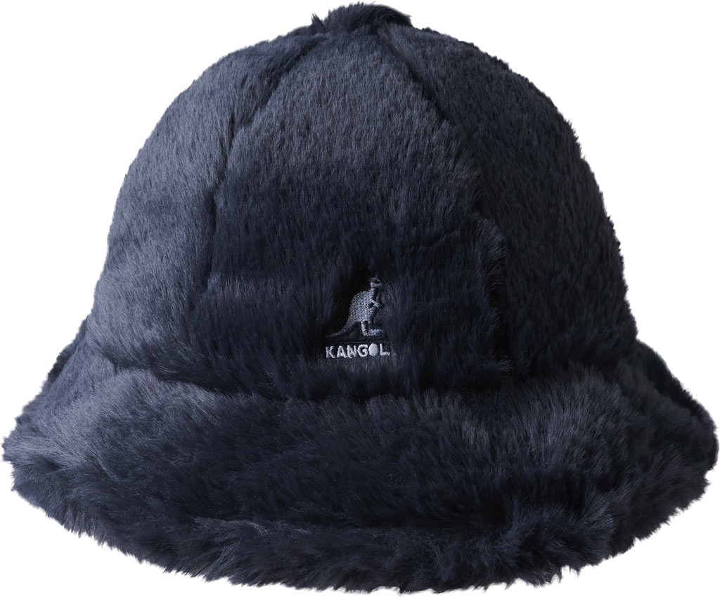 e19c7db192068b Kangol Faux Fur Casual Bucket Hat - Navy Size S | Products | Fur ...