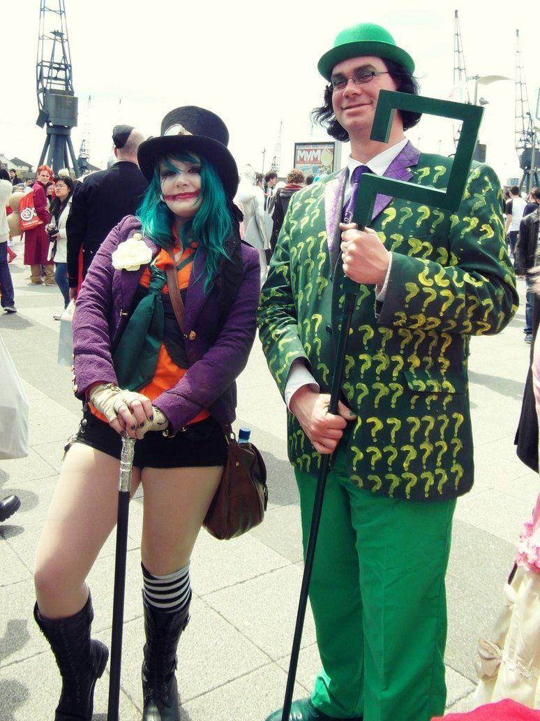 The Joker and the Riddler by LittleClockworkDoll