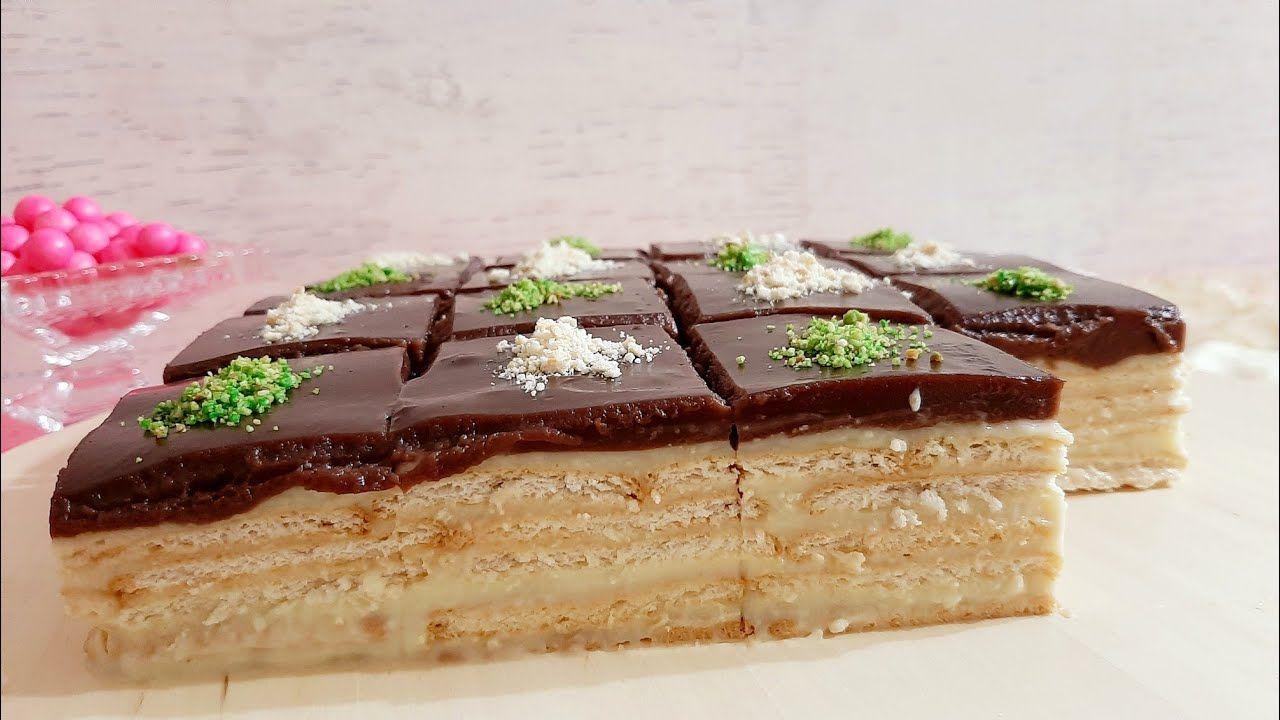 حلى طبقات بسكوت بارد سريع بدون كريمة بدون شوكولاتة موفر جدا Youtube Dessert Recipes Food Desserts
