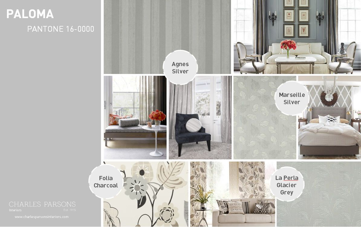 If bold isn't your thing in home decor, Pantone Spring 2014 interior decor inspiration Paloma is a luxurious neutral that looks good in any room.