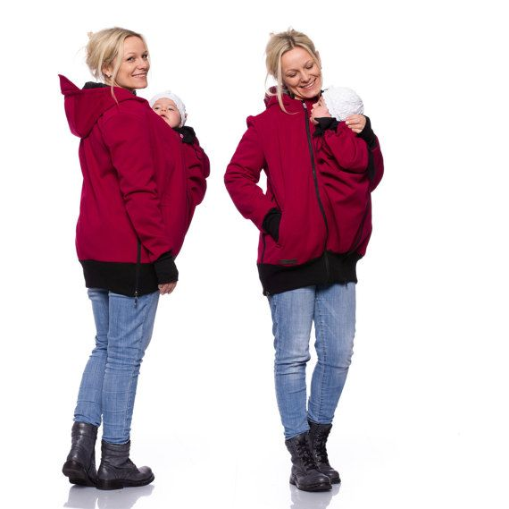 c827ccd3ed124 Softshell babywearing coat, 3in1 baby carrying jacket, baby carrier jacket,  allweather maternity clothes, bordeaux-red, AVENTURO