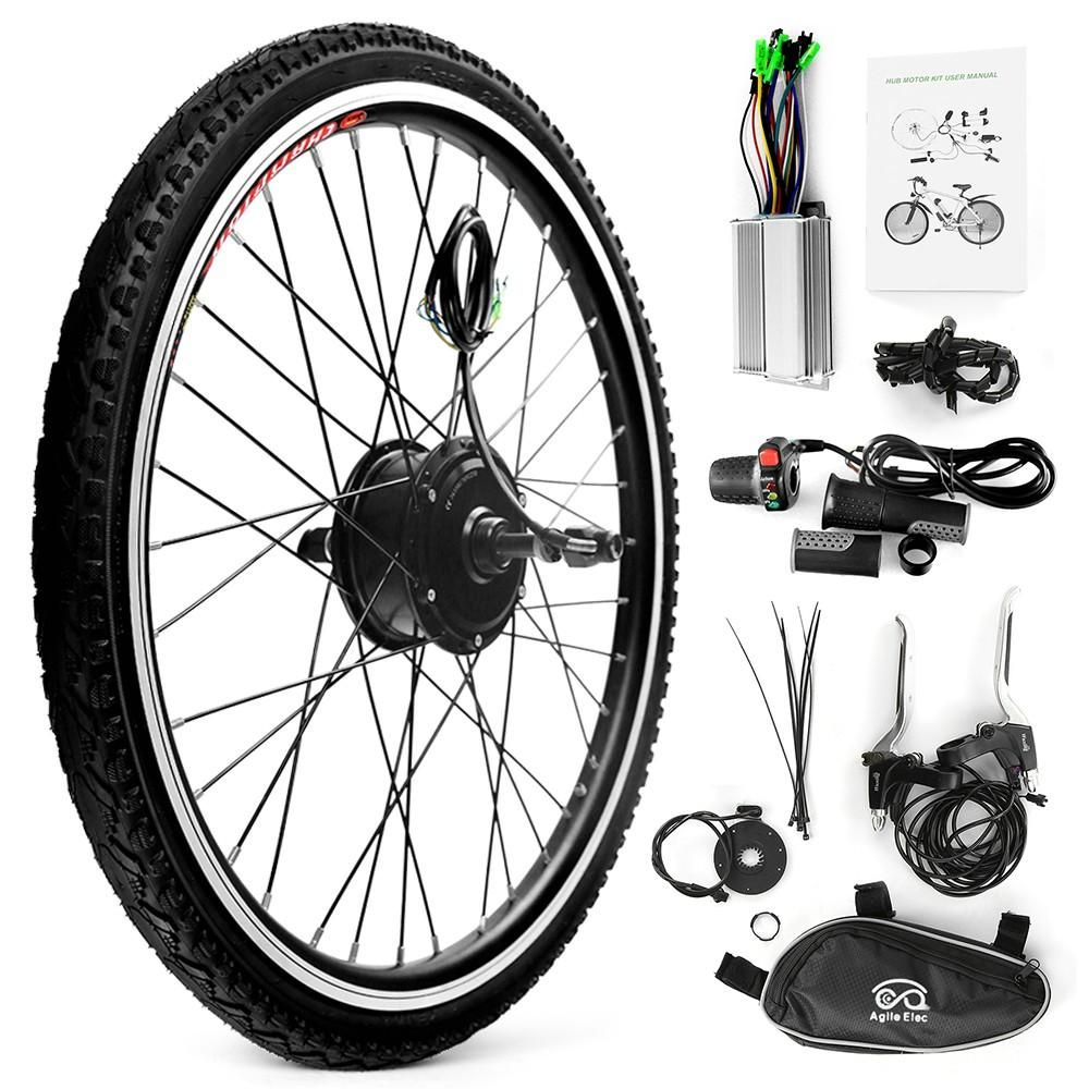 26x1 75 Electric Bicycle Rear Wheel Disc Brake Hub Motor Kit 36v