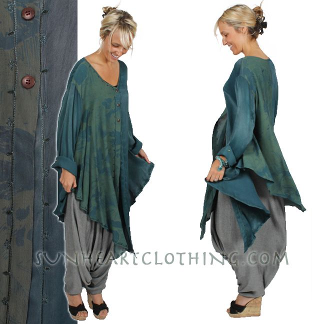 new langelook hi-low tunics just in - all one-of-a-kind TIENDA HO BOHO HI-LOW LAGENLOOK HI-LOW TUNIC