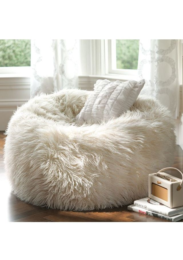 Furry chair  home sweet home  Pinterest  White fluffy