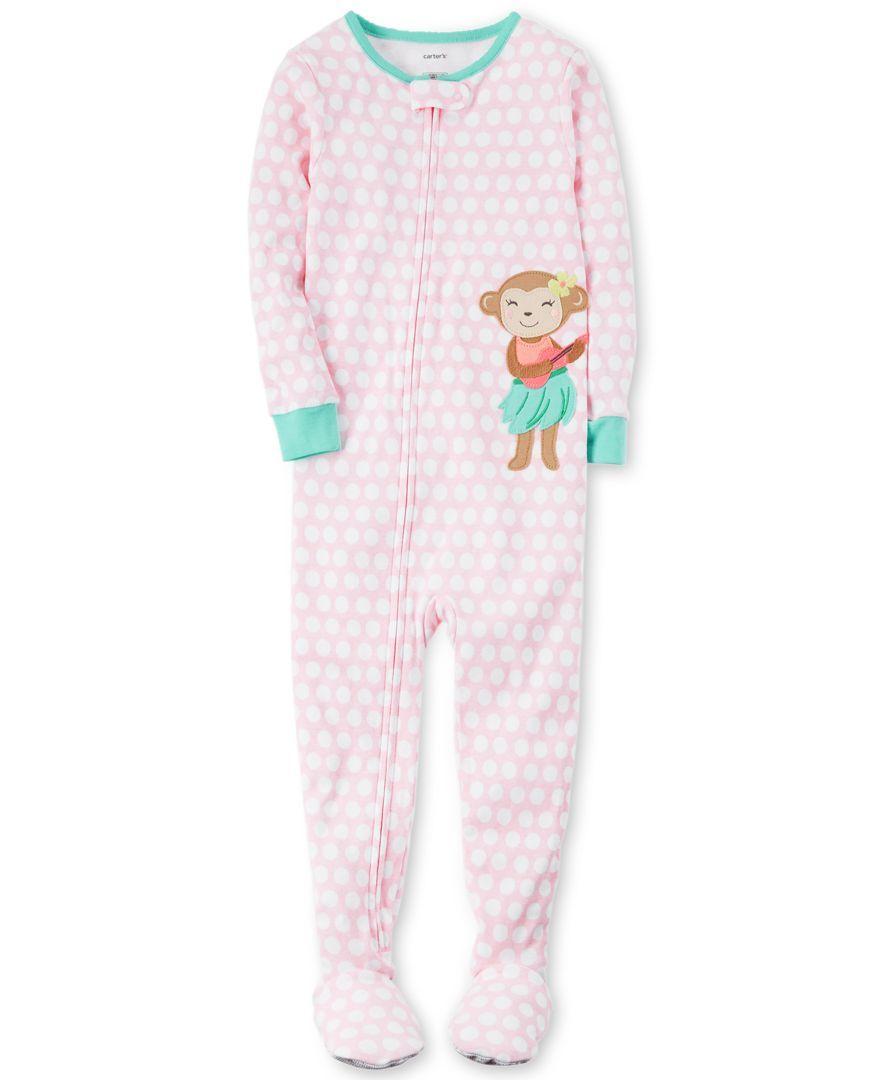 21f06dcb0 Carter s 1-Pc. Dot-Print Hula Monkey Footed Pajamas