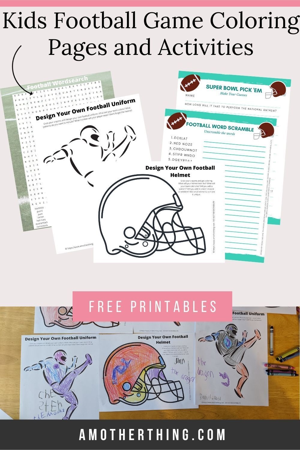 Free Kids Football Coloring Pages And Activity Sheets In 2020