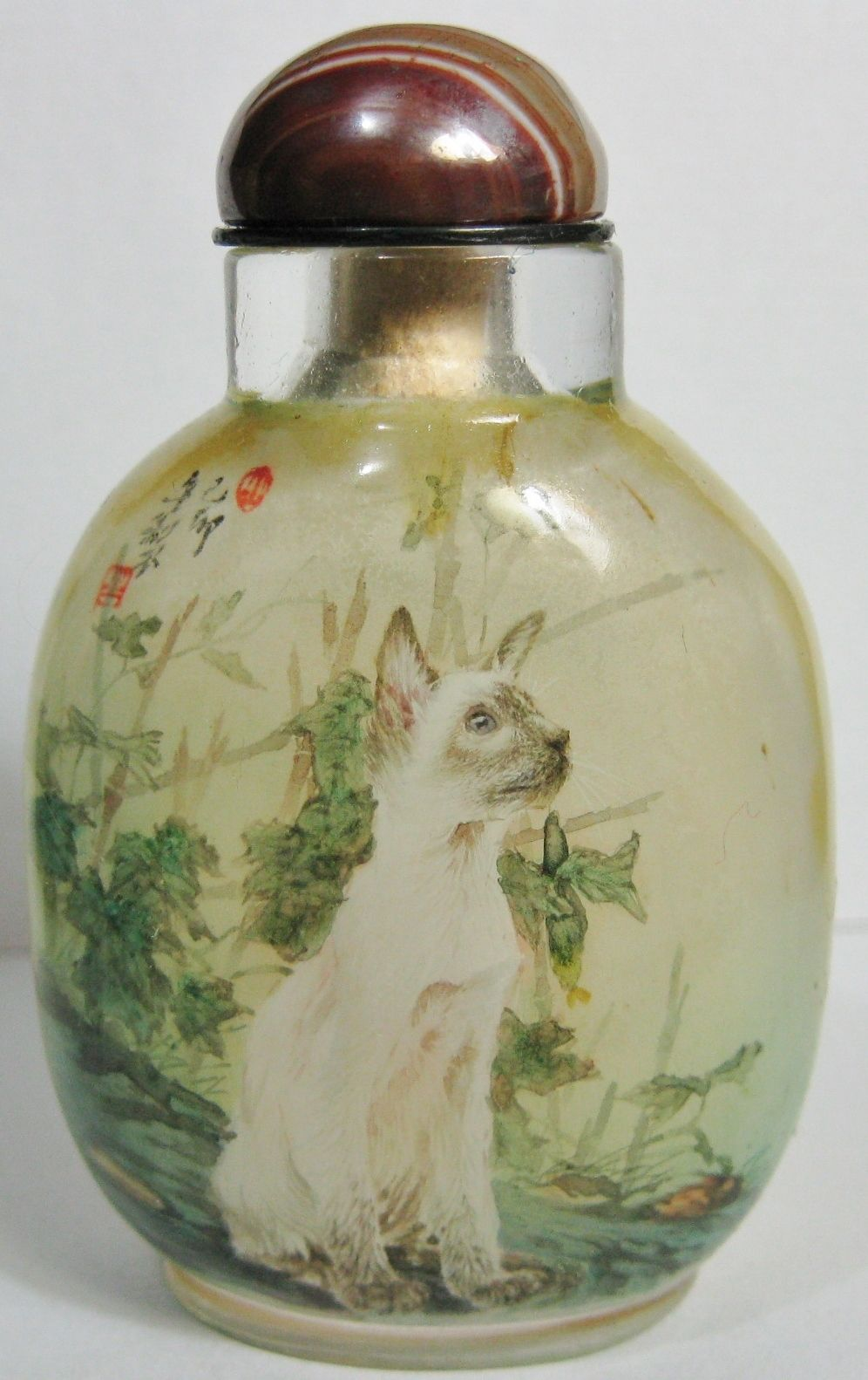 Fantastic Siamese Cat Inside Hand Painted Snuff Bottle | eBay