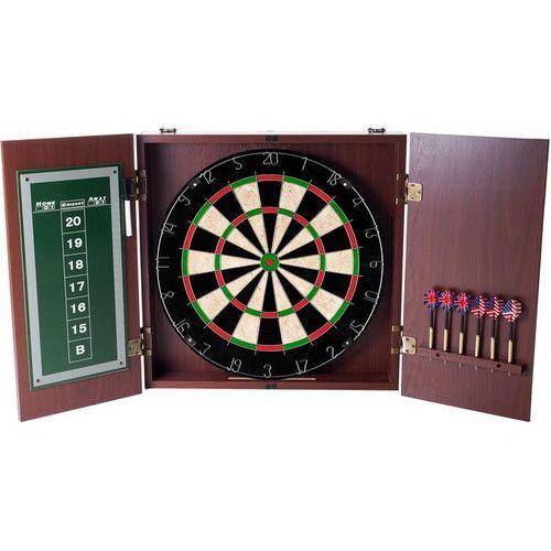 Trademark Games Dartboard Cabinet Set