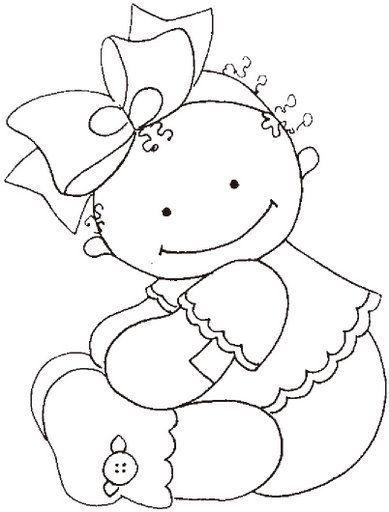 baby girl | PINTURA NENAS Y NENES | Pinterest | Molde, Dibujo y Bordado