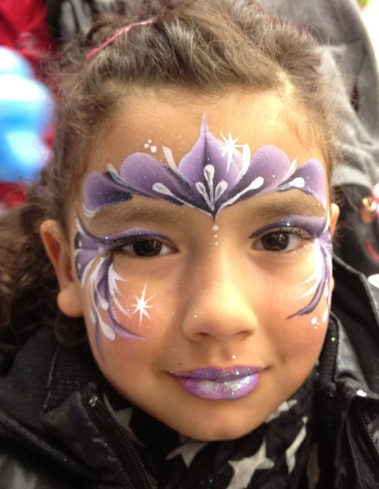 One Stroke Princess Crown Princess Face Painting Christmas Face Painting Face Painting Images