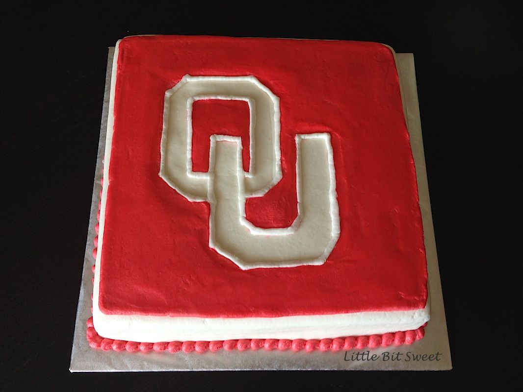 OU Birthday Cake www.littlebitsweet.co