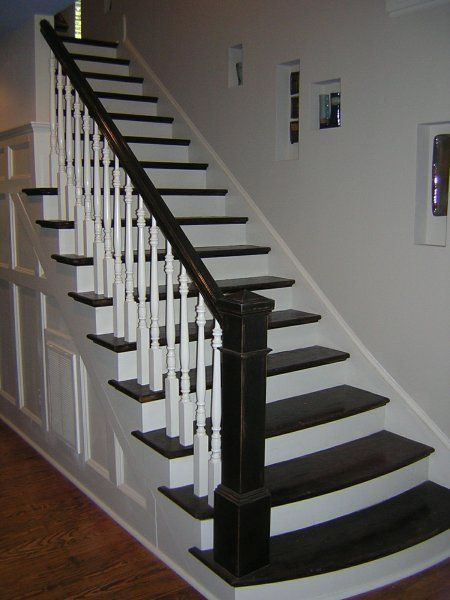 Best Stairs White And Black Stairs And Flooring Wood 640 x 480