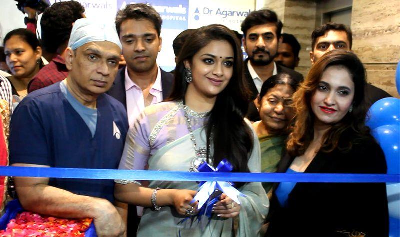 Actress Keerthi Suresh Inaugurates Dr Agarwal's Eye Hospital at Velachery