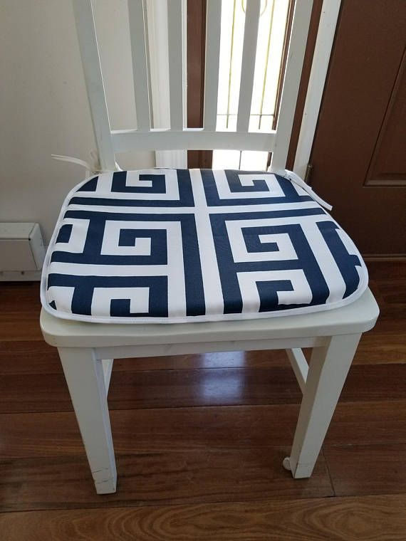 Merveilleux Set Of 4 Flat Chair Pads Seat Cushions Zeus Greek Key Navy | For Your Home  In 2018 | Pinterest | Zeus Greek, Chair Pads And Seat Cushions