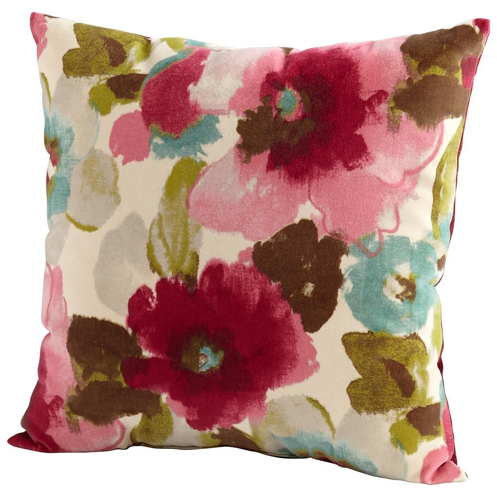 Cyan design zinnia pillow decorative pillows pinterest zinnias