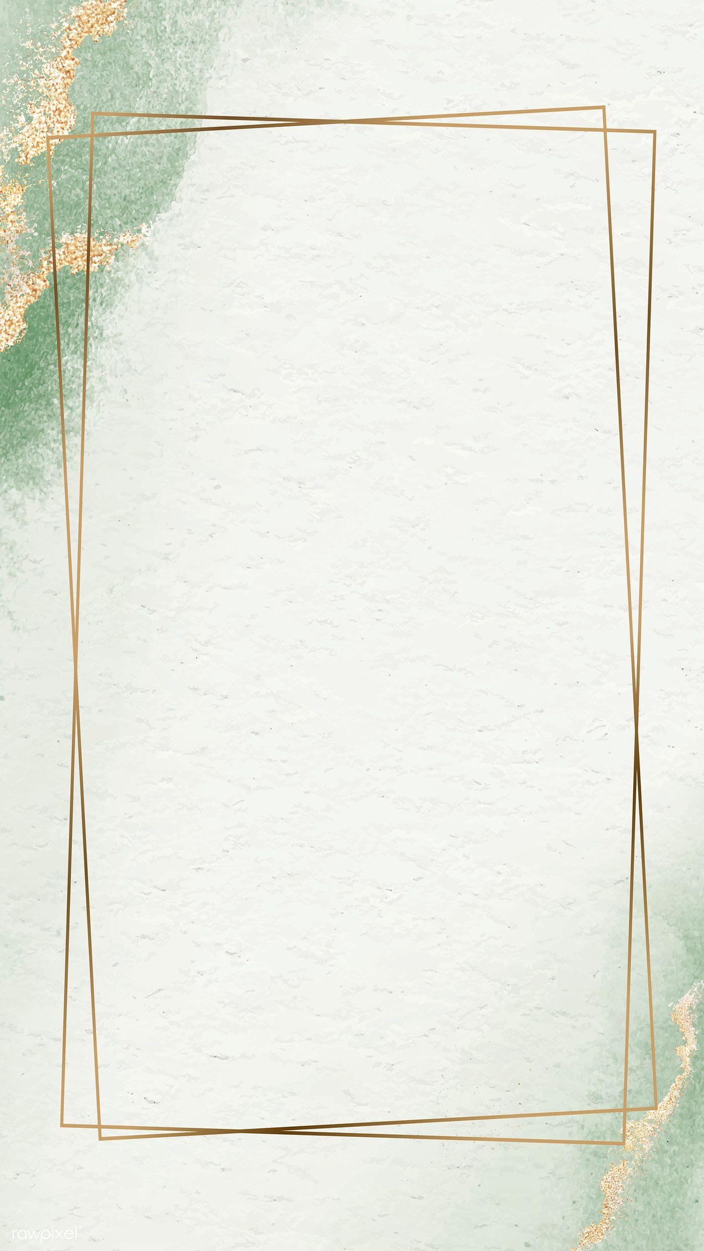 Download Premium Vector Of Rectangle Golden Vintage Frame Design Vintage Frames Frame Design Phone Wallpaper Design
