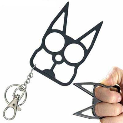 Cat Self Defense Keychain Black Amazon Everything Else Scary Lady Keychain 4 Cat Self Defense Keychain Self Defense Keychain Self Defense Tools