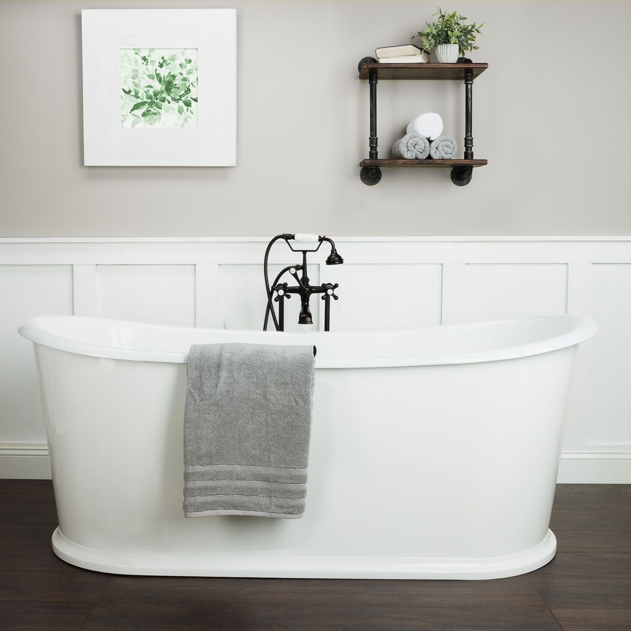 Ashley Cast Iron Double Ended Skirted Tub No Faucet Drillings Cast Iron Tub Free Standing Bath Tub Freestanding Tub Faucet