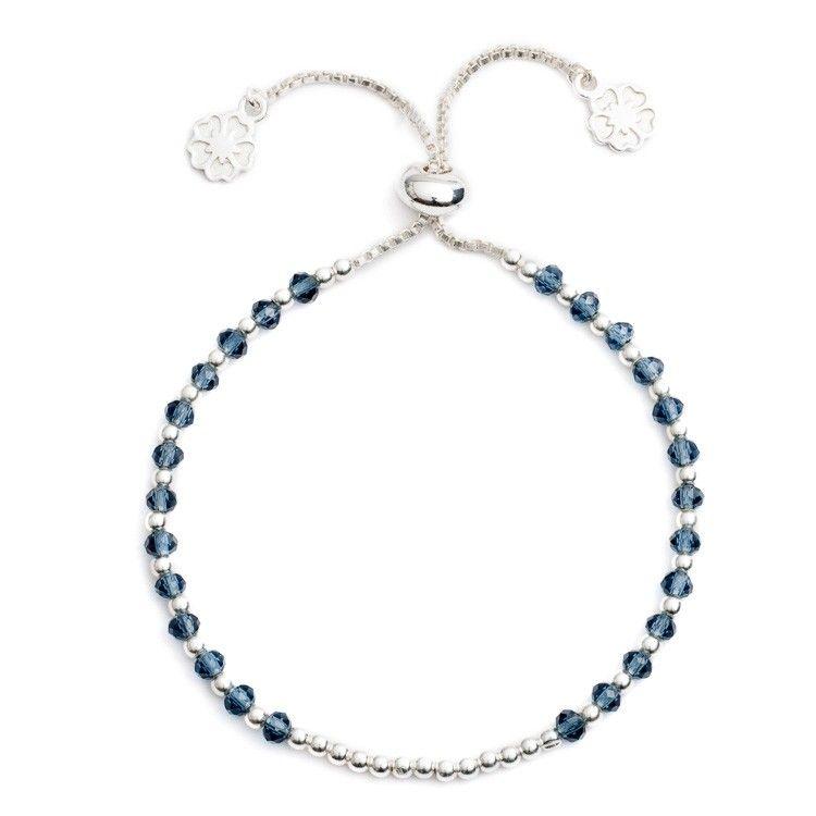 Delphina Iolite Slide Clasp Bracelet  | Discover Azuni www.azuni.co.uk