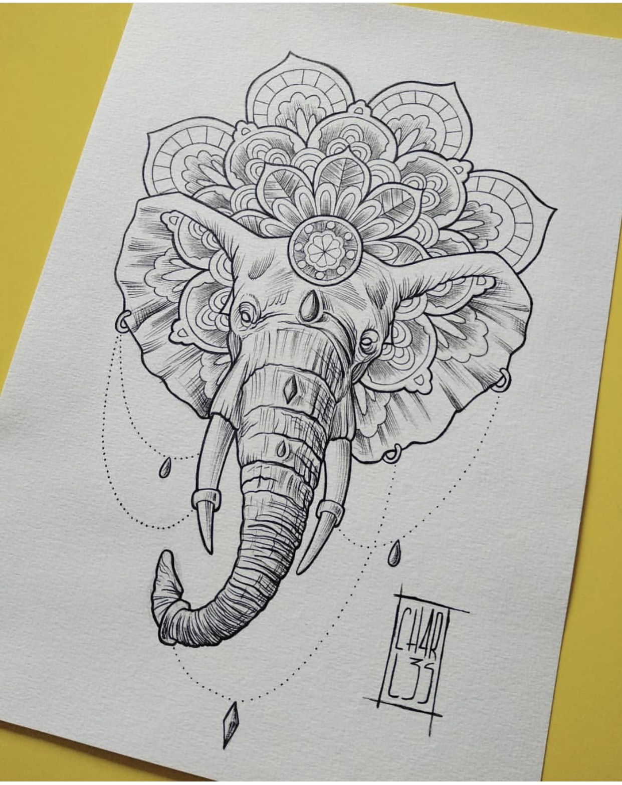 Elephant Mandala Tattoo Tattoo Ideas Tattoos Elephant Tattoos