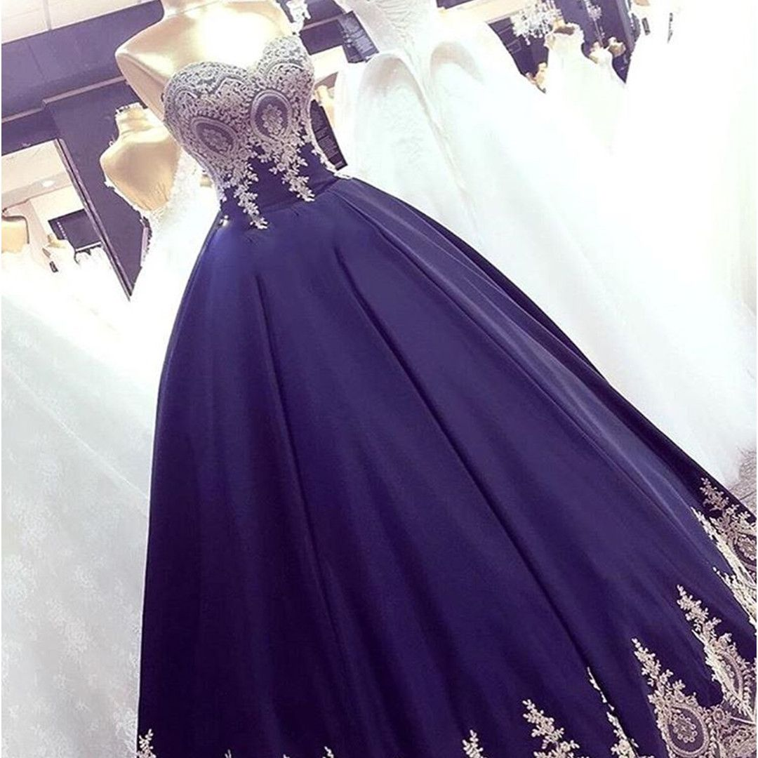 Navy Blue Ball Gowns Ball Gowns Prom Dresses Navy Quinceanera Dresses Sweet 16 Dresses Prom Dresses Ball Gown Quince Dresses Sweetheart Prom Dress [ 1080 x 1080 Pixel ]