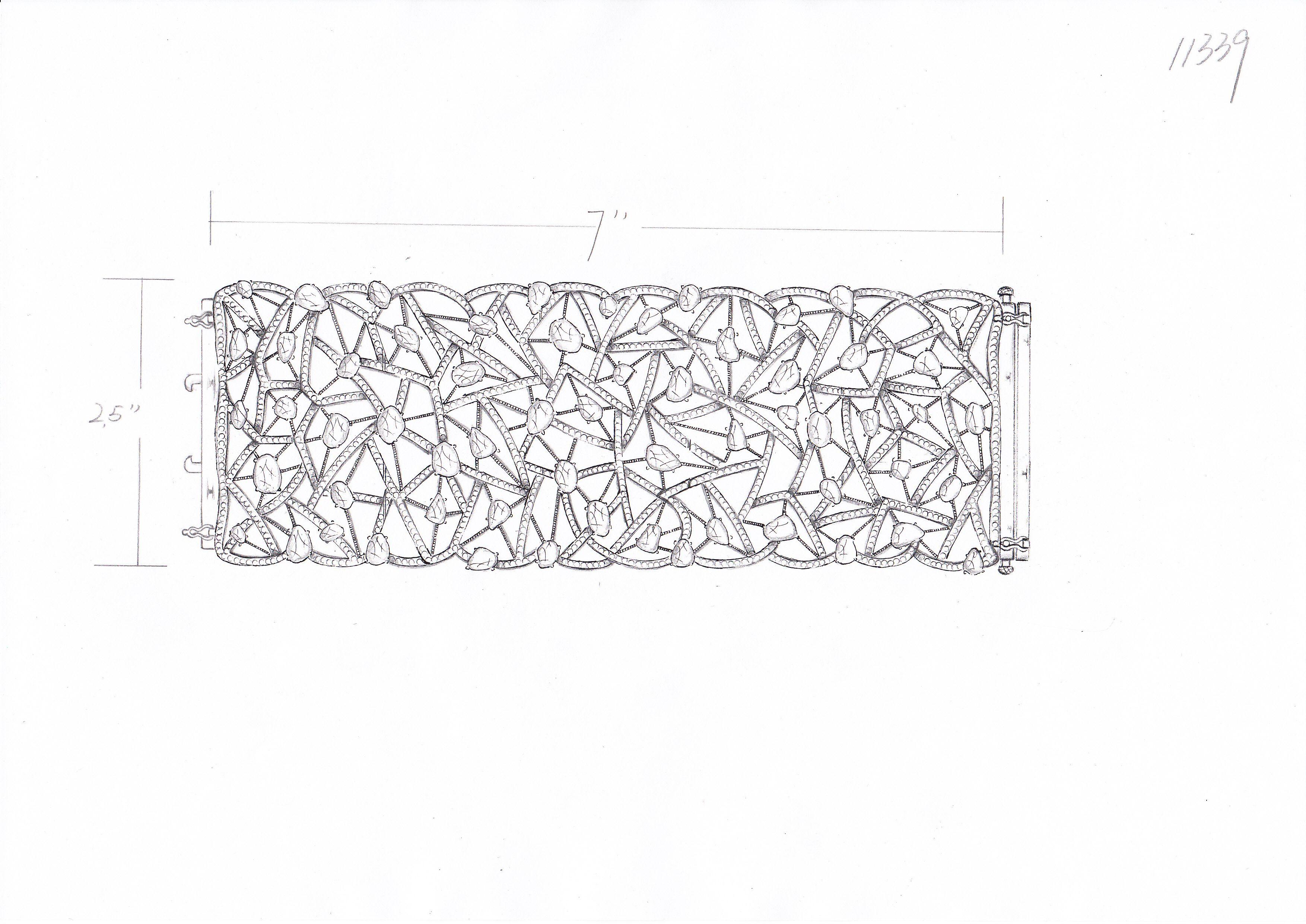 Ashley morgan diamond slice cuff bracelet in the making the sketch
