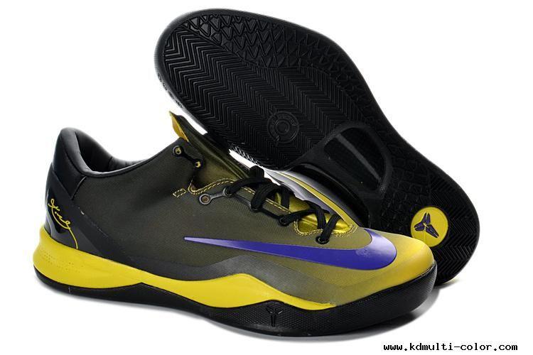Kobe 8 System MC Mambacurial FB Black Yellow Blue Basketball Shoes ... 97d802e8e5b9