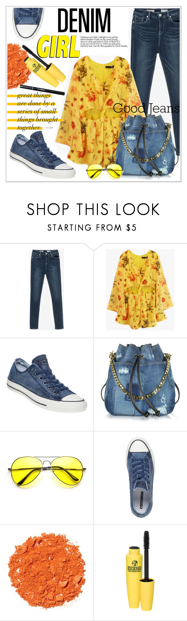 """Distressed Denim"" by allanaaa11 ❤ liked on Polyvore featuring Converse, Dsquared2, Illamasqua, women's clothing, women, female, woman, misses and juniors"