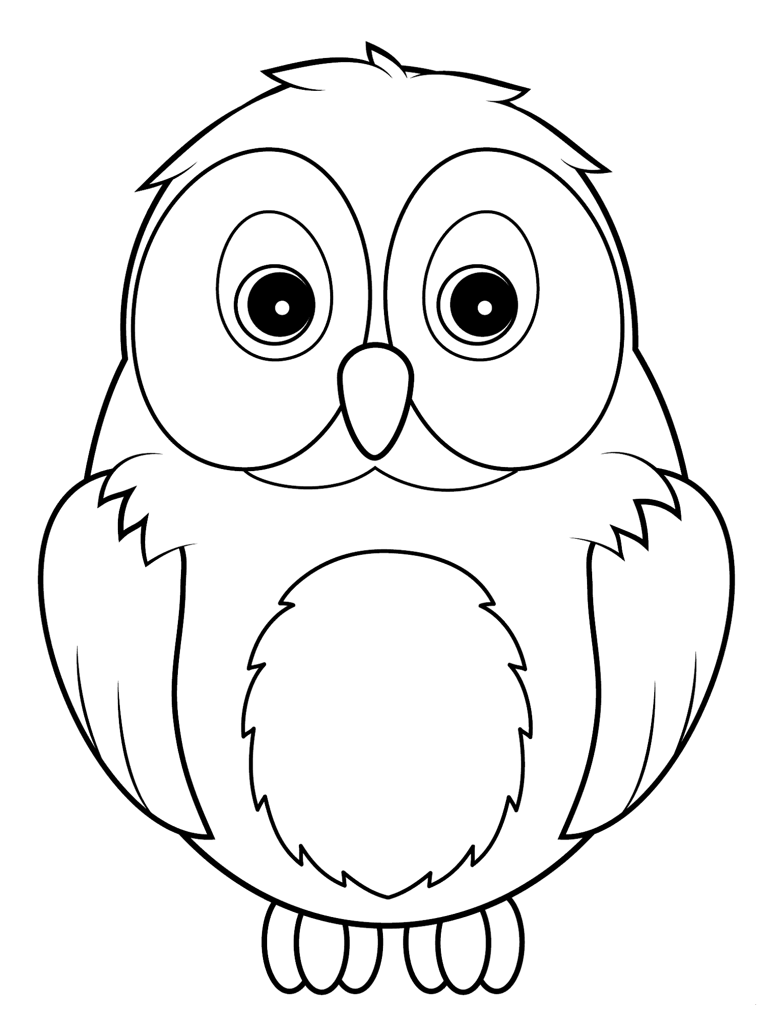 Cute Owl Coloring Pages Activity