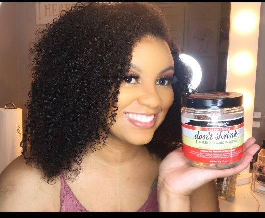 Aunt Jackie's Don't Shrink Elongating Curl Gel #auntjackiescurls #donttouchmyafro #dontshrink #4ahair #3chair #naturalhaircare #flaxseedsforhair