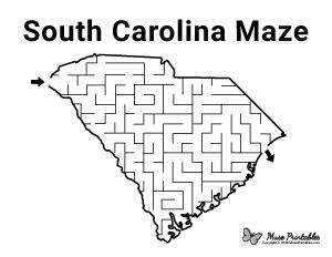 Free Printable Mazes Page 16 South Carolina Mazes For Kids Printable Maze