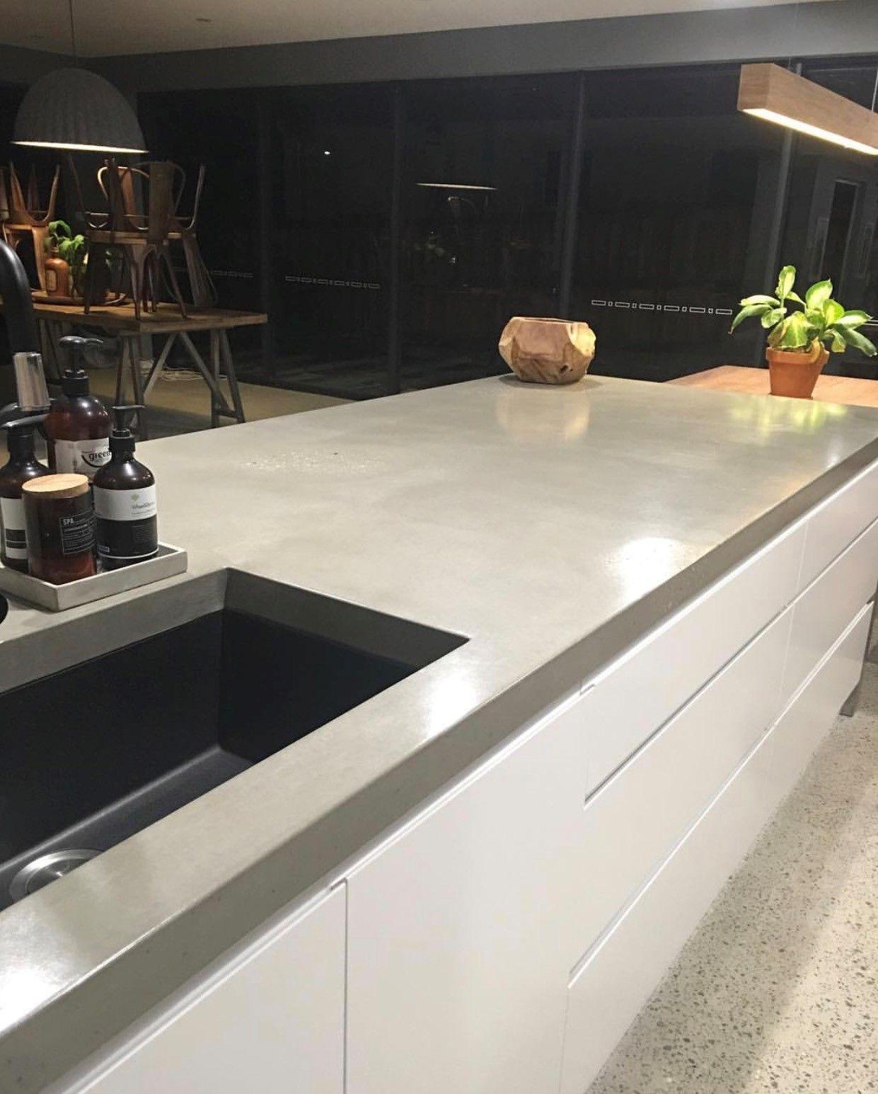 Concreate island concrete benchtop concrete kitchen