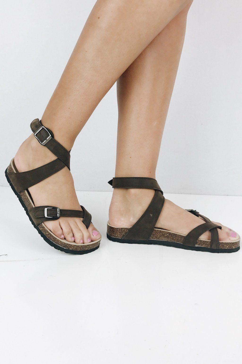 178177c0ce56 Sara Beth Sandal- Brown Ankle Strap