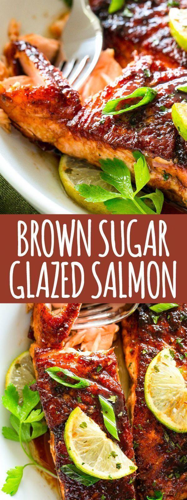 Sugar Glazed Salmon Recipe – Crispy on the outside, tender on the inside... -Brown Sugar Glazed S