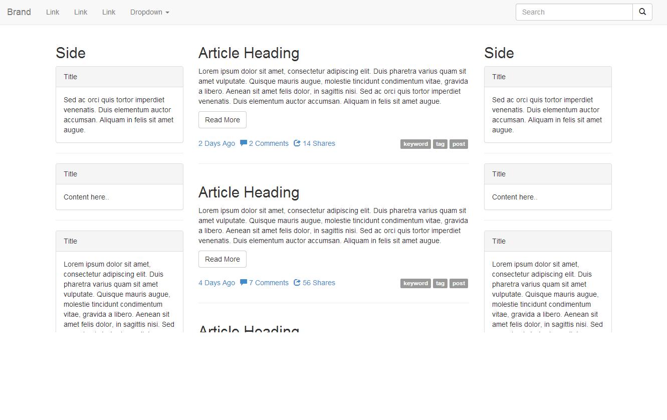Starter Templates | Bootstrap | Templates, Bootstrap