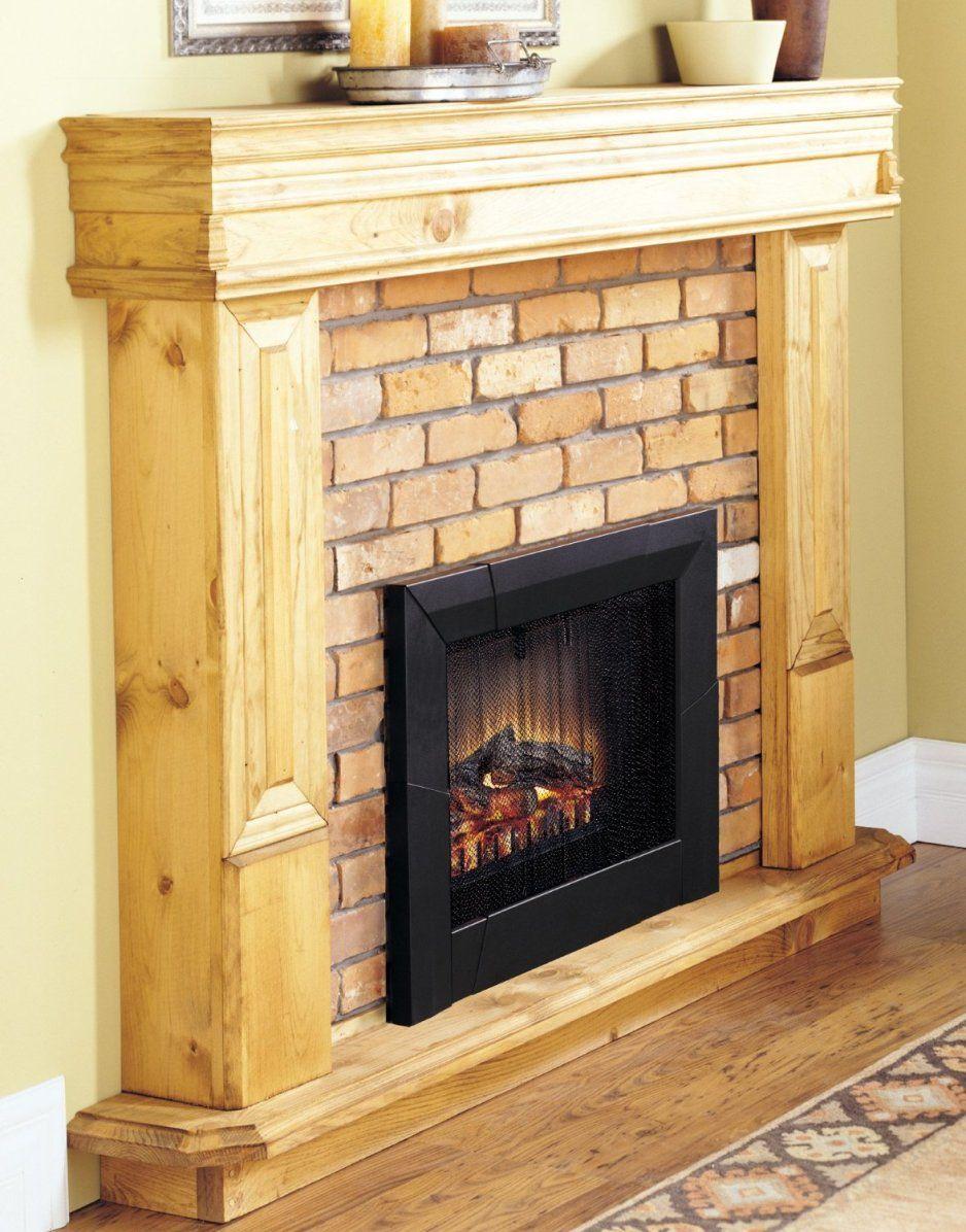 Design Ideas Alluring Unpolished Hickory Wood Fireplace Mantel