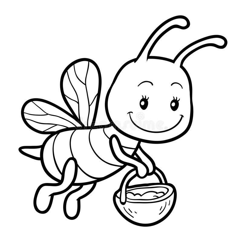 Coloring Book Coloring Page With A Small Bee Coloring Book For Children Color Affiliate Coloring Book Bee Drawing Bee Coloring Pages Coloring Books