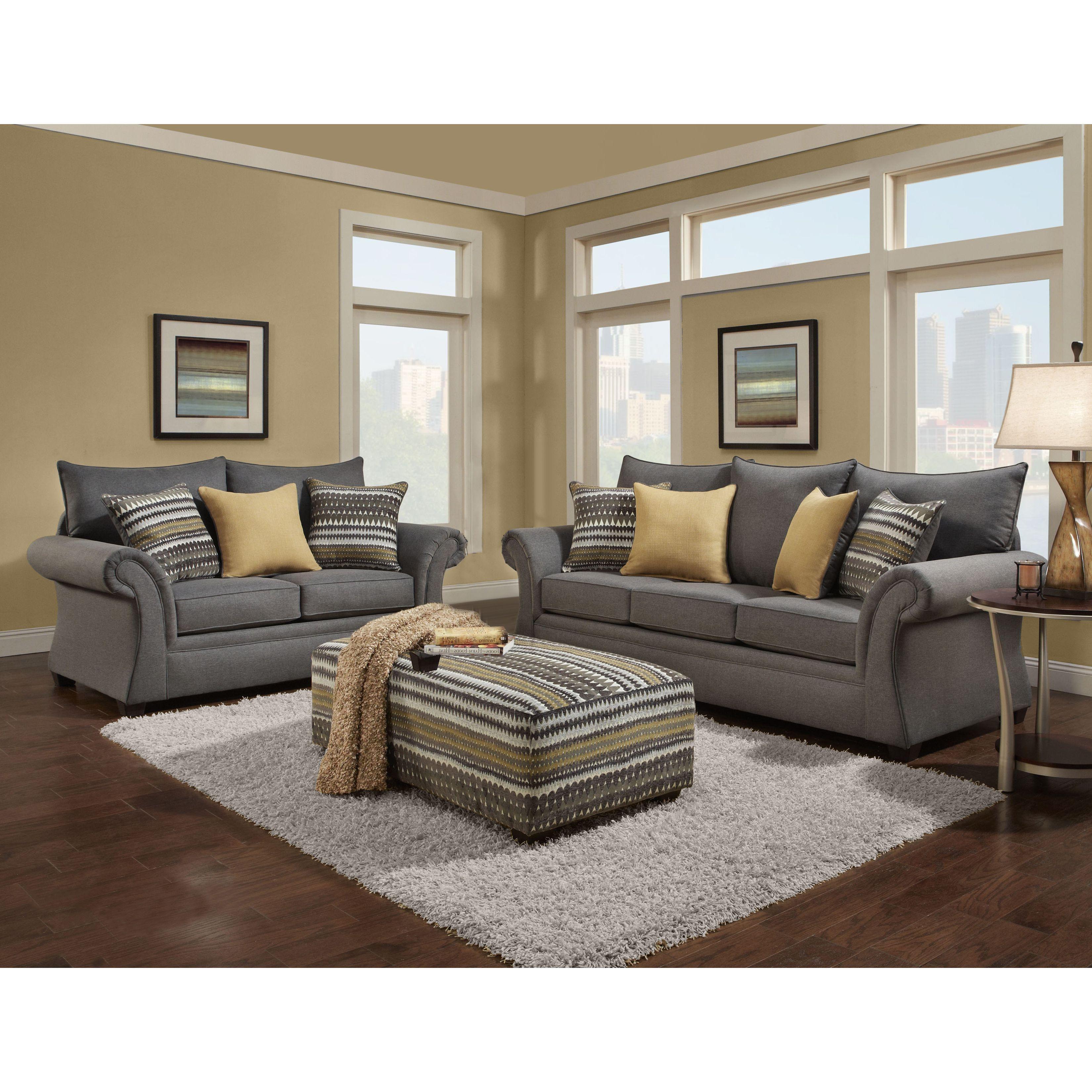 Swell Sofa Trendz Blair Grey Microfiber Sofa Loveseat And Accent Machost Co Dining Chair Design Ideas Machostcouk